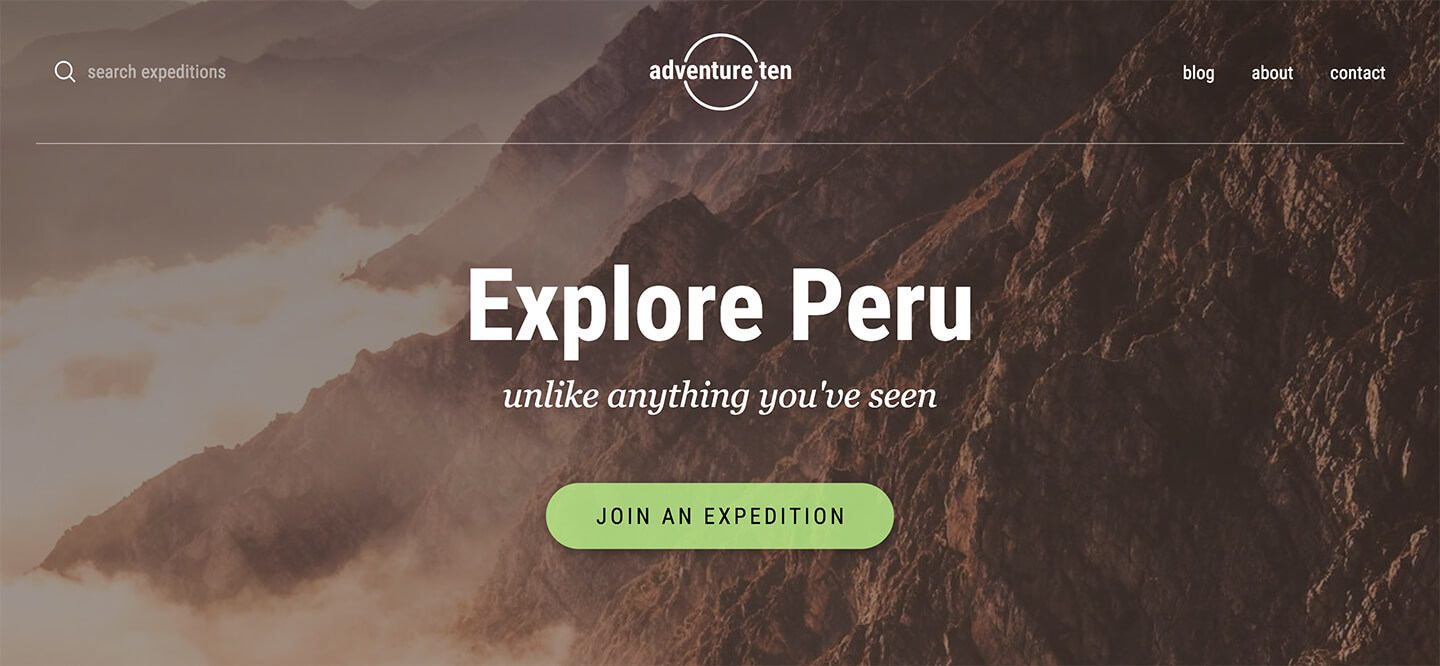 Adventure Ten Pro Header Screenshot