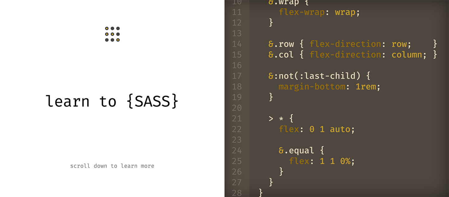 Learn to Sass Pro Header Screenshot