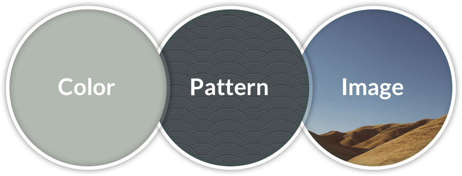 screenshot of custom background in X WordPress theme