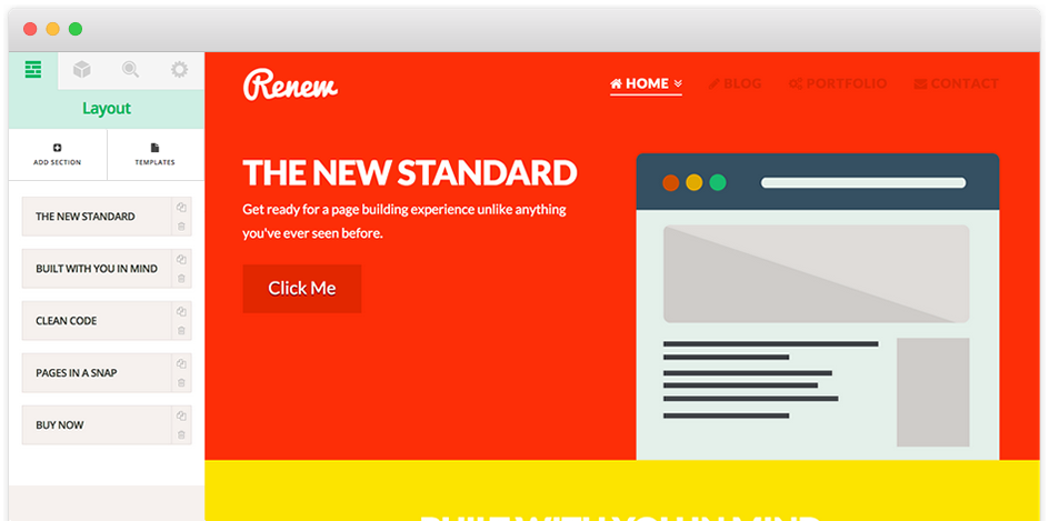 Screenshot of the page builder interface in X WordPress theme